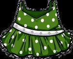 Green polka-dot dress