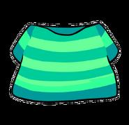 DK Style Aqua Striped Shirt
