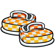 DK Style Orange Checkered Shoes