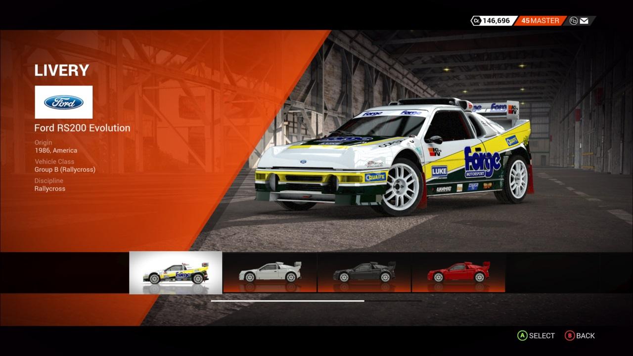DiRT 4 Ford RS200 Evolution