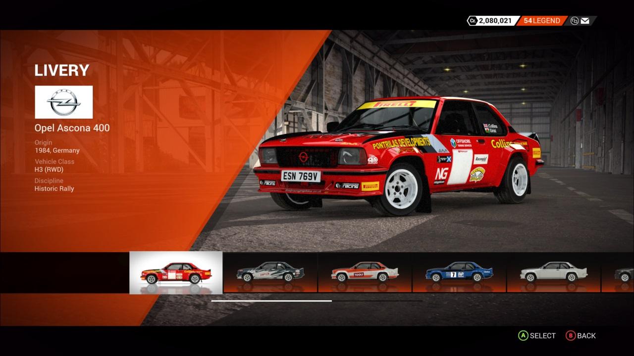 DiRT 4 Opel Ascona 400