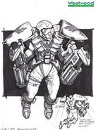 RA2 Rocketeer early concept art
