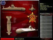 Typhoon attack submarine Render