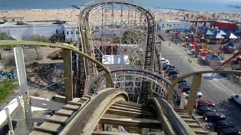 Cyclone front seat on-ride HD POV Luna Park, Coney Island