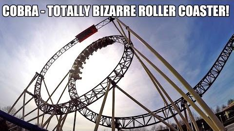 Cobra Roller Coaster POV Crazy Shuttle Loop Connyland Switzerland