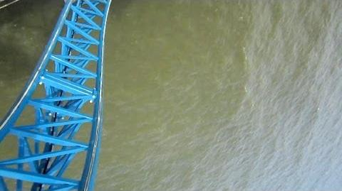 Iron Shark front seat on-ride HD POV Galveston Island Historic Pleasure Pier