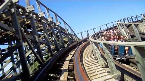 Stampida left track front seat on-ride HD POV PortAventura Park