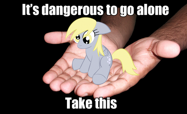 File:It's dangerous to go alone MLP.png