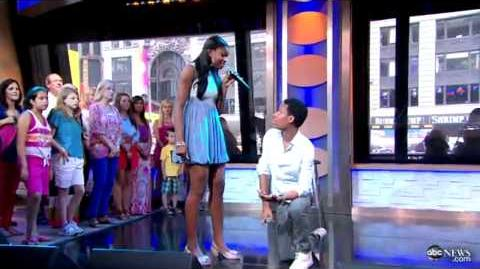 Me & You by Tyler James Williams & Coco Jones on Good Morning America 06 13 2012