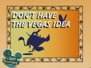 Don't Have the Vegas Idea
