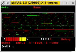 Core War PMars Screenshot
