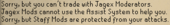 Jagex moderator no trade or assist