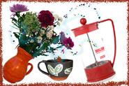 Bodum cup and vase