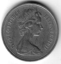 GBP 1968 5 Pence