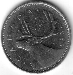 CAN CAD 1985 25 Cent