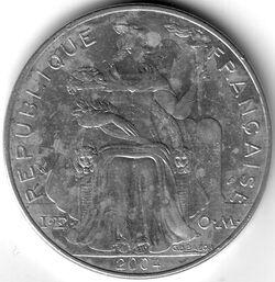 CFP 2004 5 Franc
