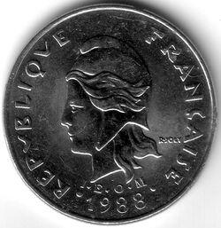 CFP 1988 20 Franc