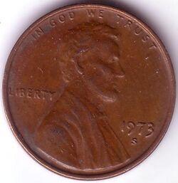USD 1973 1 Cent S
