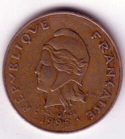 CFP 1995 100 Franc