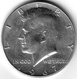 USD 1967 50 Cent