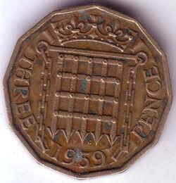 GBP 1959 3 Penny