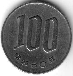 JPY 1975 100 Yen