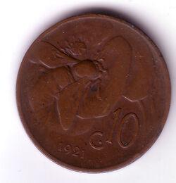ITL 1921 10 Centesimo