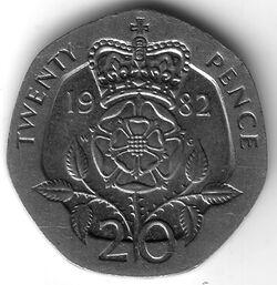 GBP 1982 20 Pence