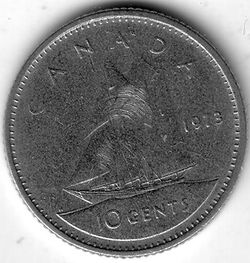 CAN CAD 1973 10 Cent