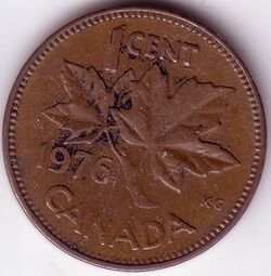CAN CAD 1976 1 Cent