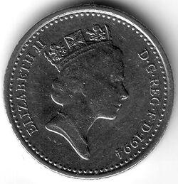 GBP 1994 5 Pence