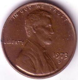 USD 1973 1 Cent D