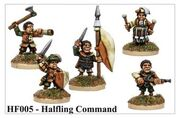 HF005 Halfling Command - but not sculpted by John Pickford