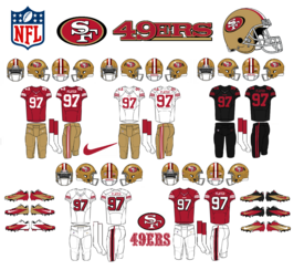 NFL-NFC-SF 49ers Jerseys