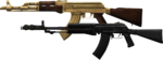 AN-94 and AK-47 Gold Plated