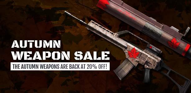 Autumn Weapon Sale Banner