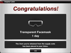 Transparent Facemask from case