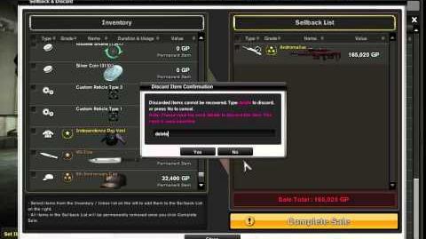 Weapon Sellback