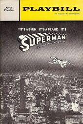 SUPERMAN MUSICAL PLAY BILL