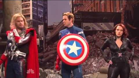 Jeremy Renner as HAWKEYE The Avengers Saturday Night Live Skit part 3 9