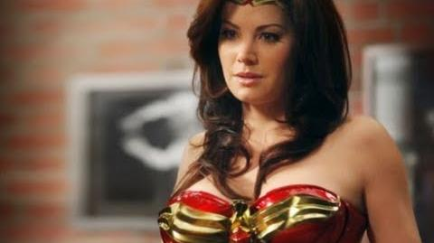 Erica Durance As Wonder Woman - Behind the Scenes Harry's Law