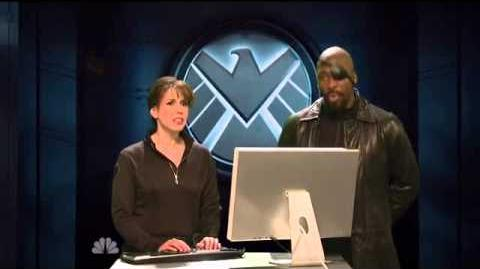 Jeremy Renner as HAWKEYE The Avengers Saturday Night Live Skit part 2 9