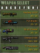 Weapon Category G