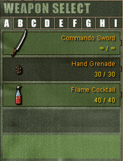 Weapon List A