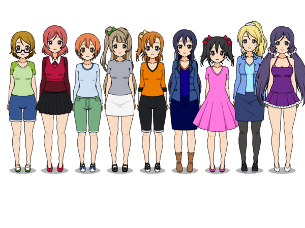 Love Live girls Casual outfits