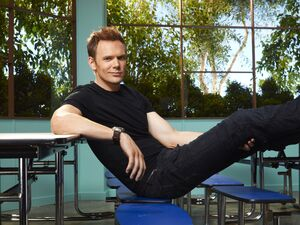 Jeff Winger Season Two promo pic sitting