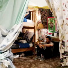 Troy and Abed's blanket fort room