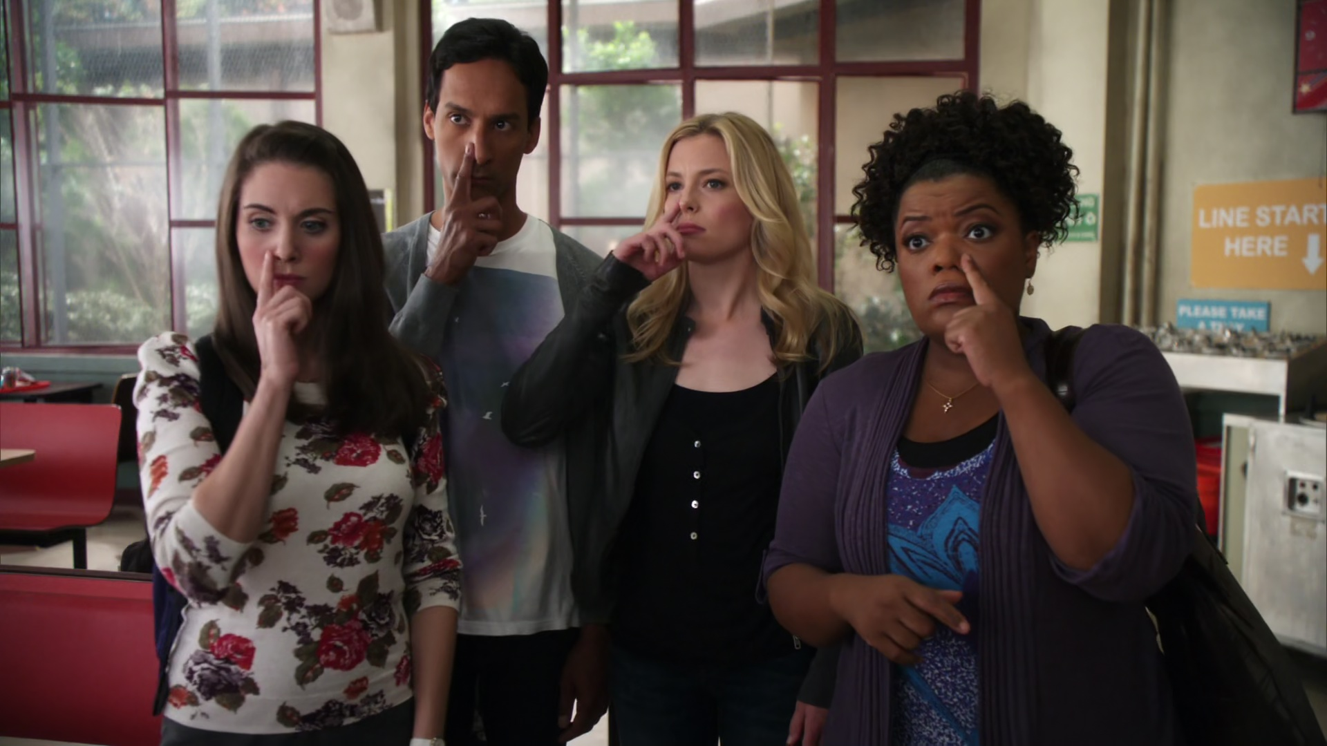 File:2x07-Annie Abed Britta Shirley nose goes.jpg