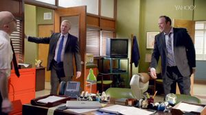 6x4 Richie and Carl corner the Dean.