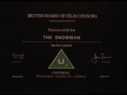 BBFC Uc Card (The Snowman)